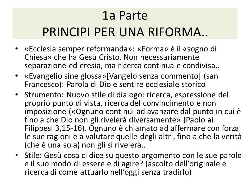 1a Parte PRINCIPI PER UNA RIFORMA..