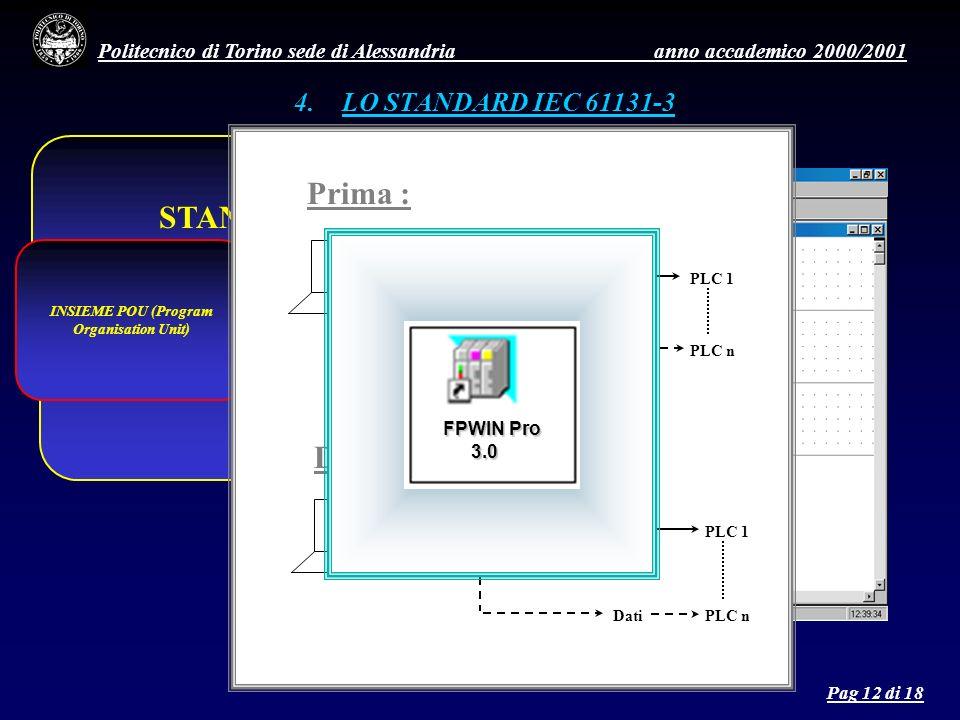 Politecnico di Torino sede di Alessandria anno accademico 2000/2001 4.