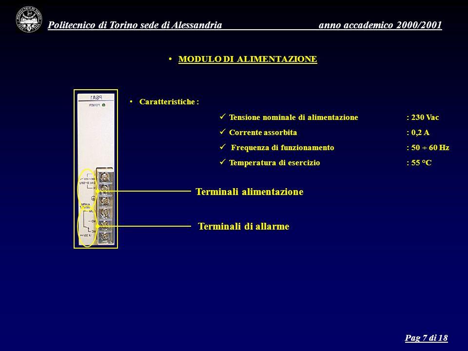 Politecnico di Torino sede di Alessandria anno accademico 2000/2001 9.
