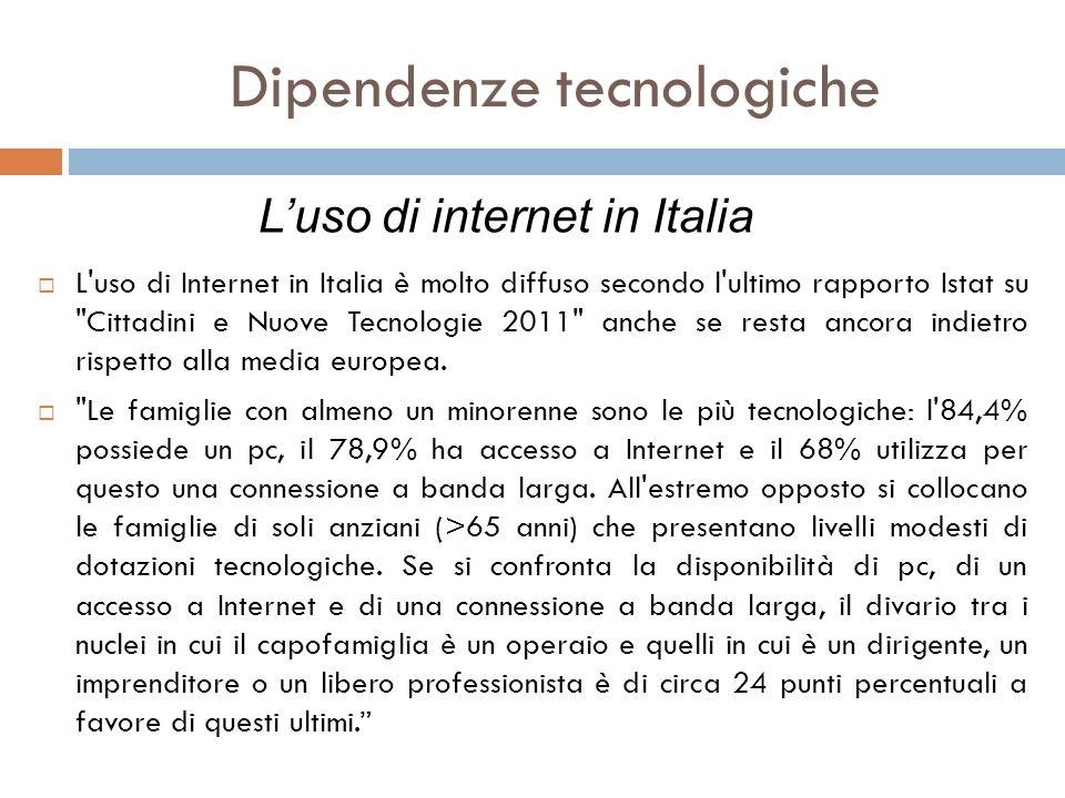 L'uso di Internet in Italia è molto diffuso secondo l'ultimo rapporto Istat su