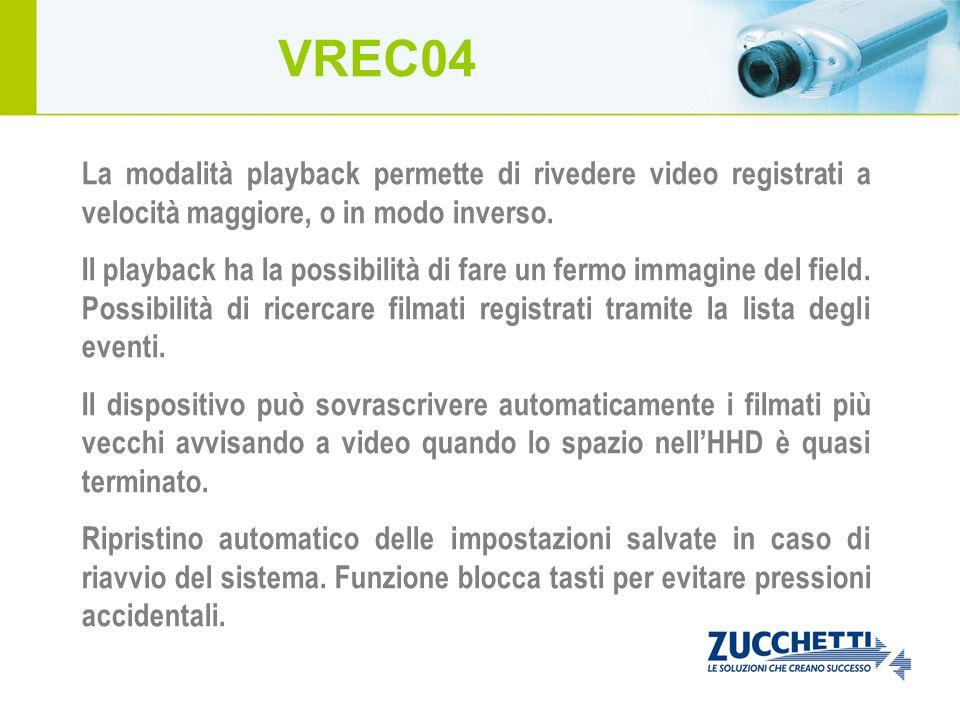 La modalità playback permette di rivedere video registrati a velocità maggiore, o in modo inverso. Il playback ha la possibilità di fare un fermo imma