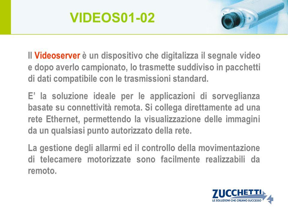 Il Videoserver è un dispositivo che digitalizza il segnale video e dopo averlo campionato, lo trasmette suddiviso in pacchetti di dati compatibile con