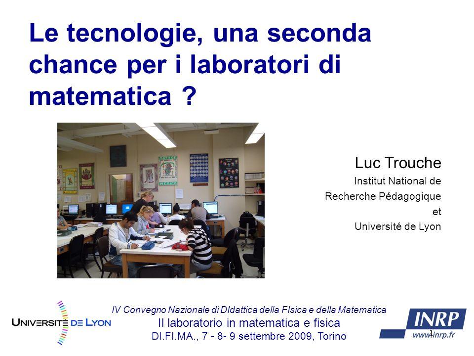 1 Le tecnologie, una seconda chance per i laboratori di matematica .