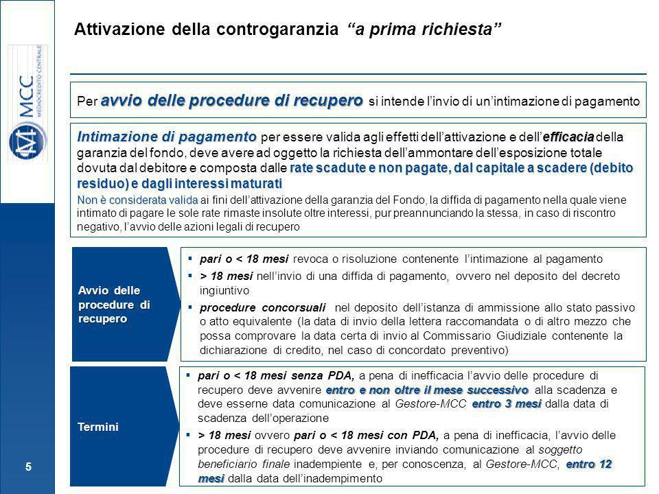 16 Ai fini della liquidazione della perdita i soggetti richiedenti devono trasmettere al Gestore idonea documentazione comprovante lavvenuto perfezionamento dellaccordo transattivo (es.