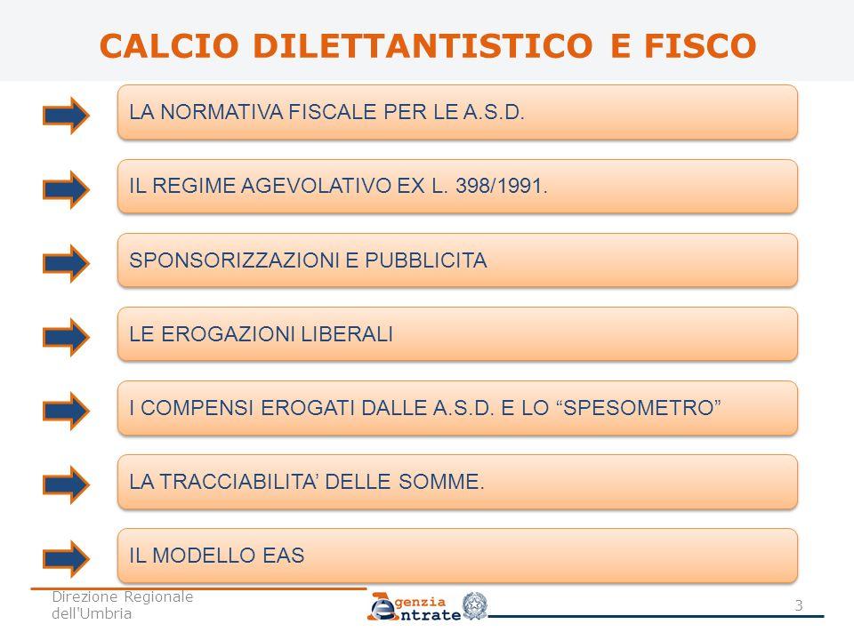 CALCIO DILETTANTISTICO E FISCO LA NORMATIVA FISCALE PER LE A.S.D. IL REGIME AGEVOLATIVO EX L. 398/1991. SPONSORIZZAZIONI E PUBBLICITA LE EROGAZIONI LI