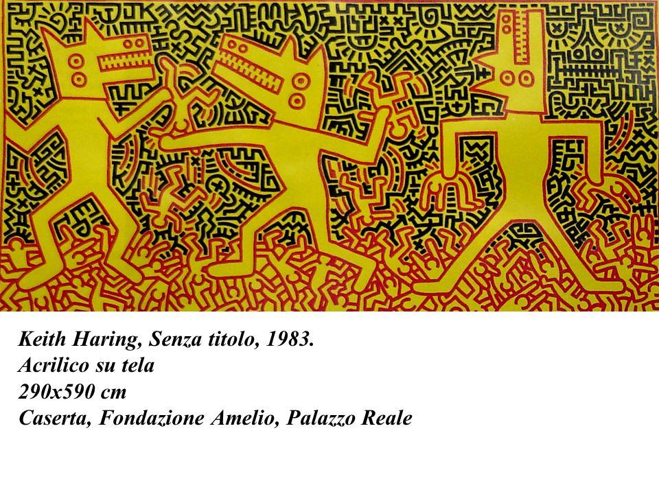 Keith Haring, Senza titolo, 1983. Acrilico su tela 290x590 cm Caserta, Fondazione Amelio, Palazzo Reale