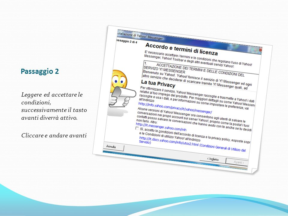 Passaggio 3 Verificare i dati, se ci sono degli errori si può tornare indietro con il tasto apposito altrimenti continuare cliccare Installa