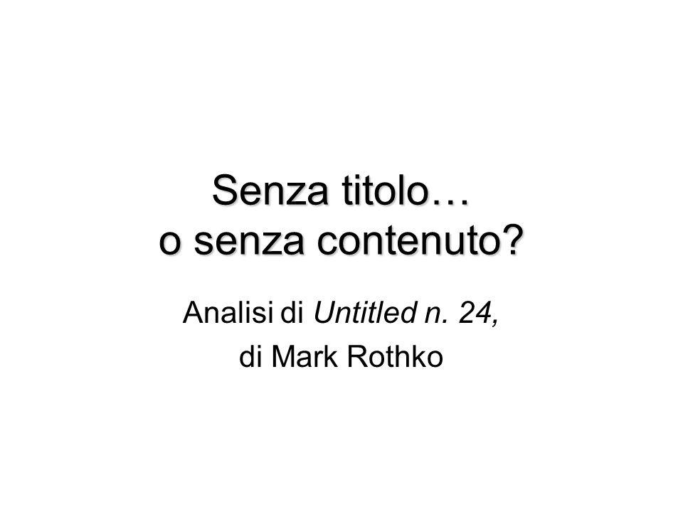 Untitled n. 24 di Mark Rothko variazioni semiotiche