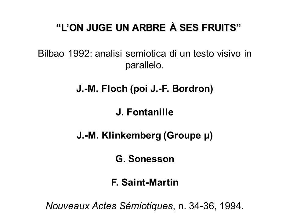 Bilbao 1992: analisi semiotica di un testo visivo in parallelo.
