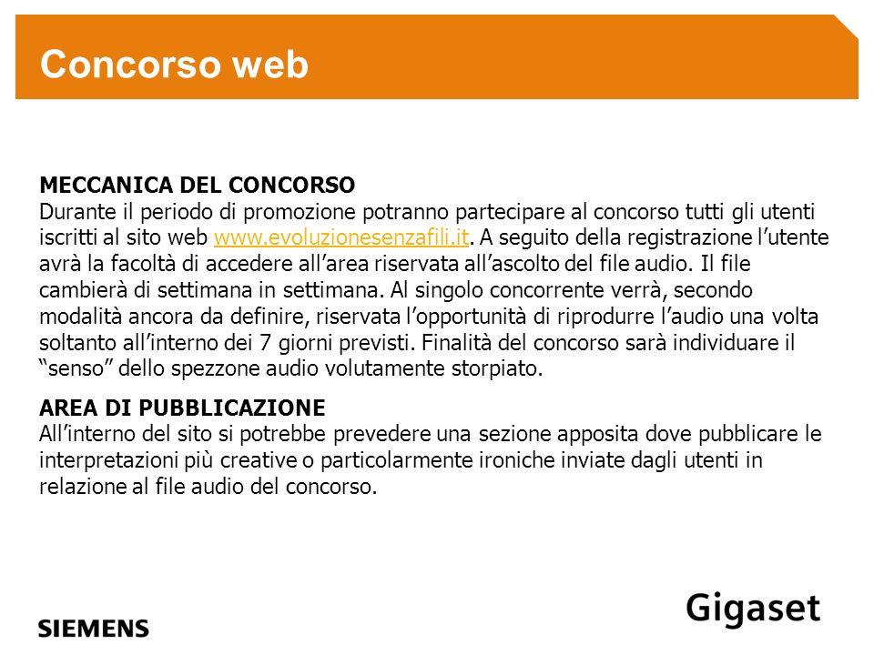 Concorso web MECCANICA DEL CONCORSO Durante il periodo di promozione potranno partecipare al concorso tutti gli utenti iscritti al sito web www.evoluz