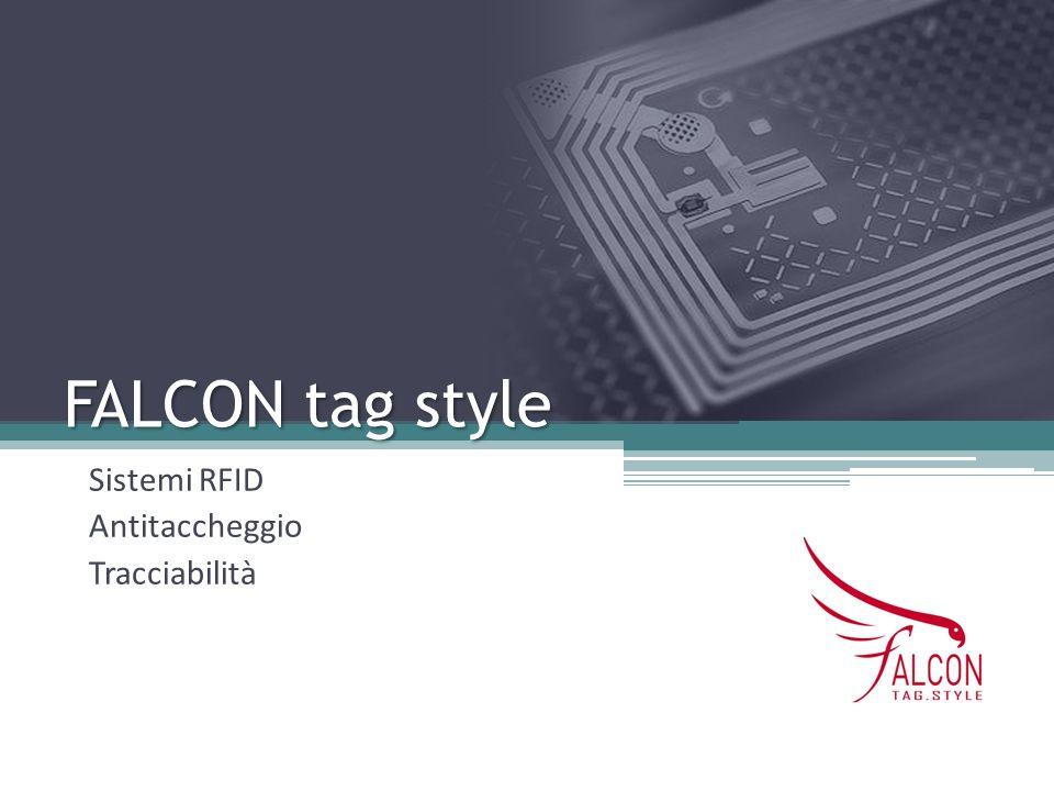 FALCON tag style Sistemi RFID Antitaccheggio Tracciabilità
