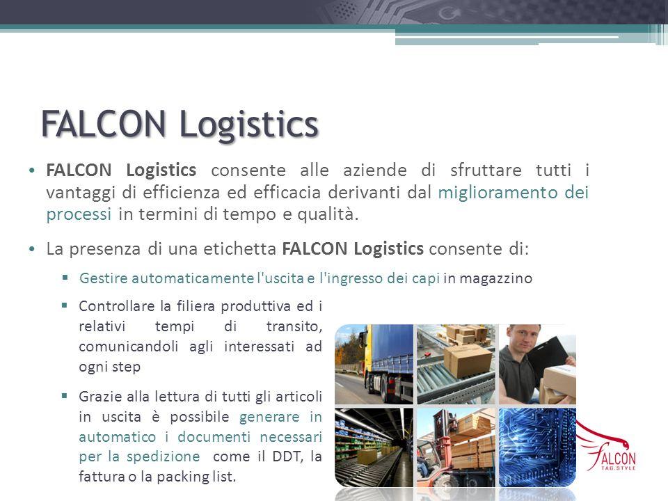 FALCON Logistics FALCON Logistics consente alle aziende di sfruttare tutti i vantaggi di efficienza ed efficacia derivanti dal miglioramento dei proce
