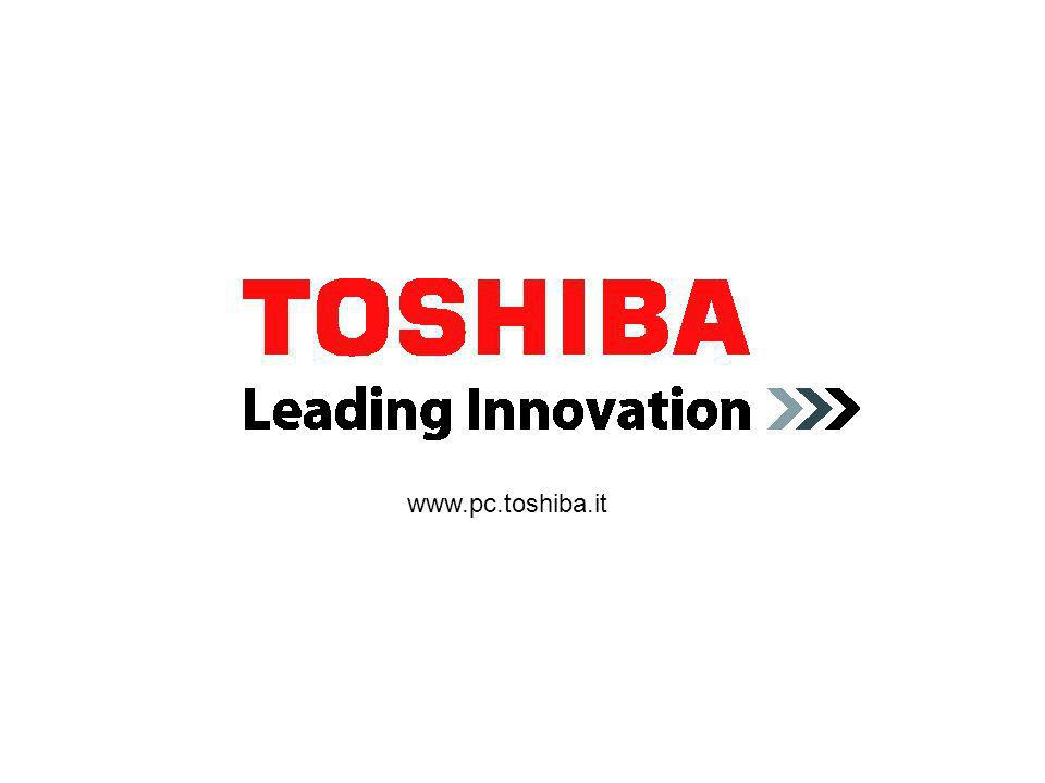 Tecra A9 slide: 30 Maggio 2007 Specifiche principali Toshiba EasyGuard – Premium: Security: Execute Disable Bit (XD-Bit), accesso wireless tramite tel