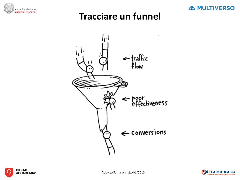 Roberto Fumarola - 21/01/2013 Tracciare un funnel