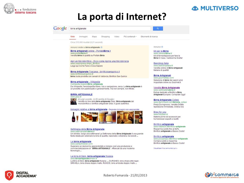 Roberto Fumarola - 21/01/2013 La porta di Internet