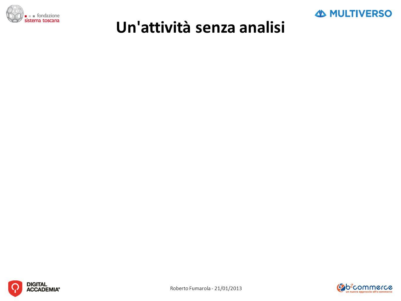 Roberto Fumarola - 21/01/2013 Un attività senza analisi