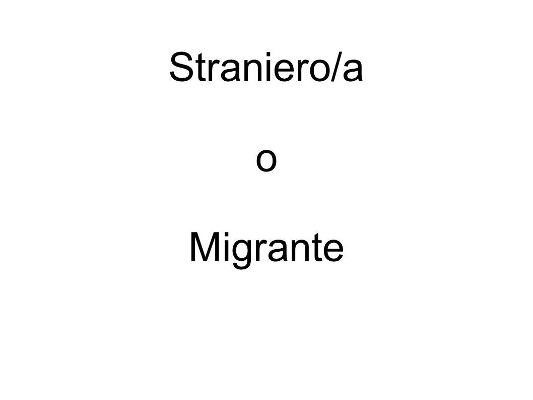 Straniero/a o Migrante
