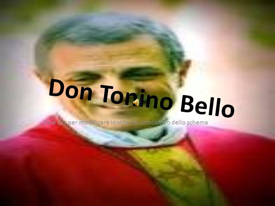 Fare clic per modificare lo stile del sottotitolo dello schema Don Tonino Bello