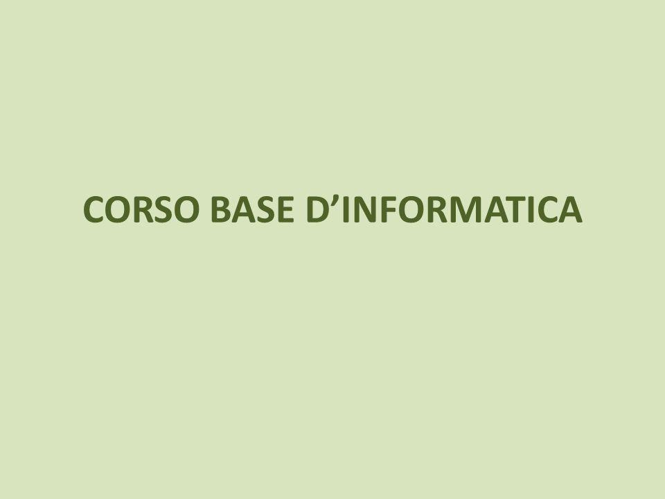 CORSO BASE DINFORMATICA