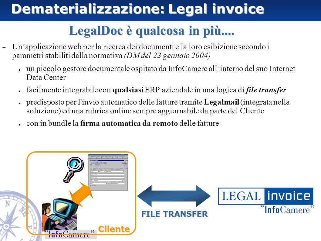 LegalDoc è qualcosa in più.... Unapplicazione web per la ricerca dei documenti e la loro esibizione secondo i parametri stabiliti dalla normativa (DM