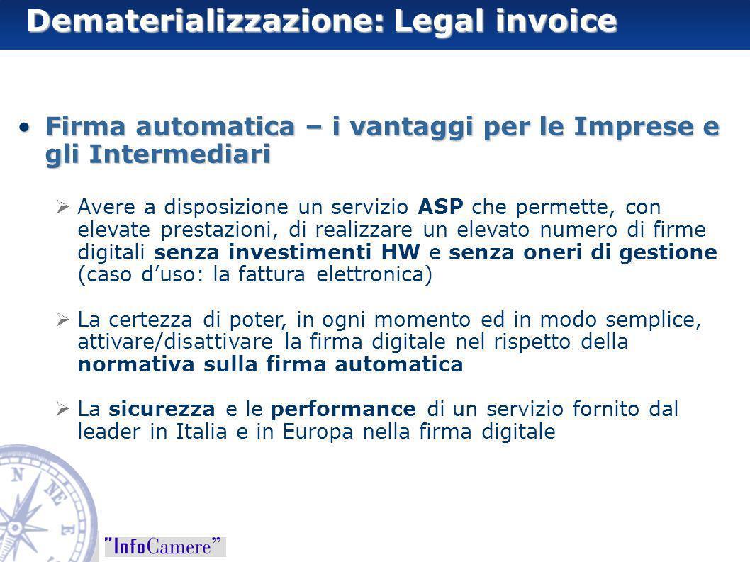 Firma automatica – i vantaggi per le Imprese e gli IntermediariFirma automatica – i vantaggi per le Imprese e gli Intermediari Avere a disposizione un