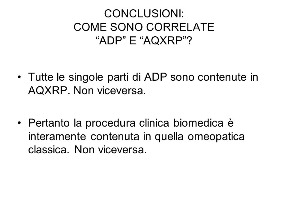 CONCLUSIONI: COME SONO CORRELATE ADP E AQXRP.