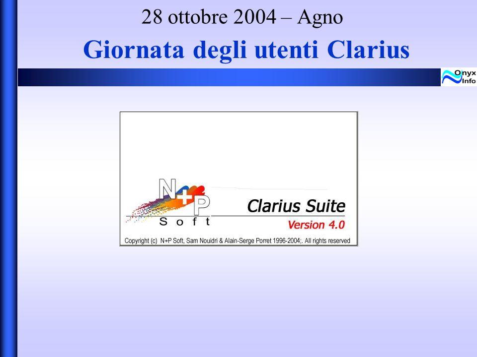 Giornata degli utenti Clarius 28 ottobre 2004 – Agno