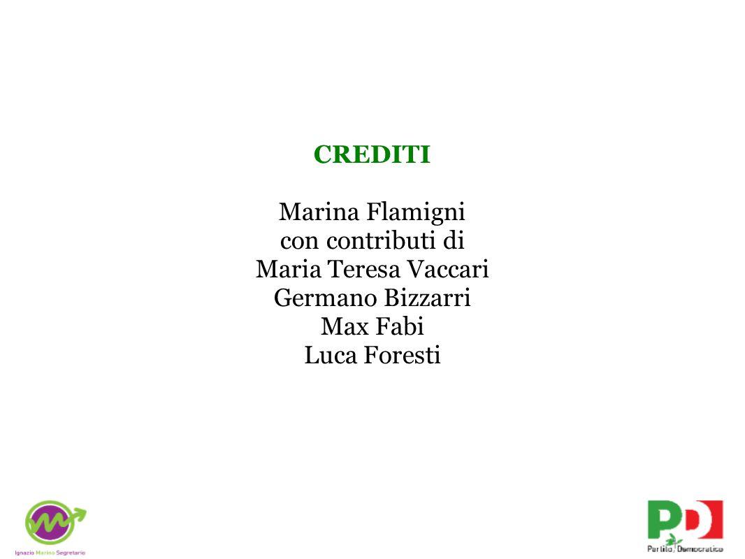 CREDITI Marina Flamigni con contributi di Maria Teresa Vaccari Germano Bizzarri Max Fabi Luca Foresti