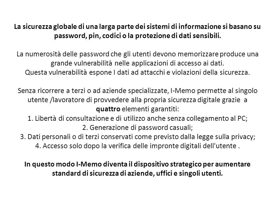 La sicurezza globale di una larga parte dei sistemi di informazione si basano su password, pin, codici o la protezione di dati sensibili.