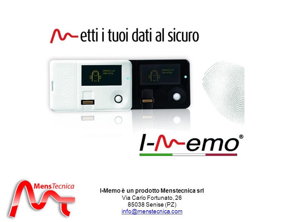 I-Memo è un prodotto Menstecnica srl Via Carlo Fortunato, 26 85038 Senise (PZ) info@menstecnica.com