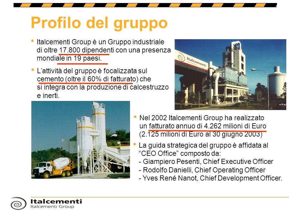 La guida strategica del gruppo è affidata al CEO Office composto da: - Giampiero Pesenti, Chief Executive Officer - Rodolfo Danielli, Chief Operating