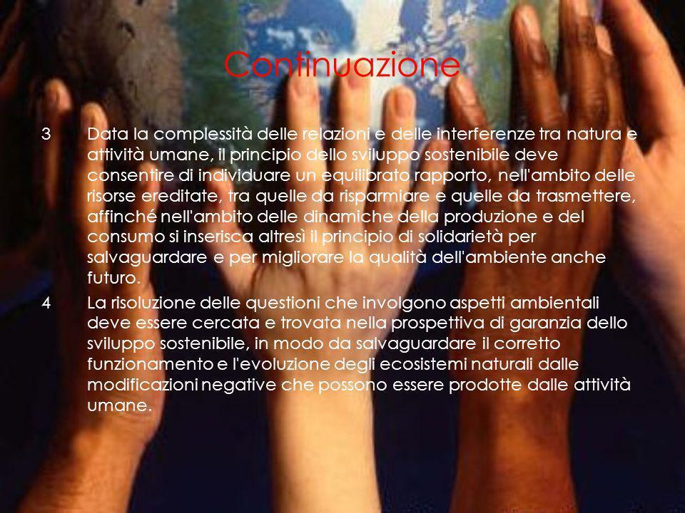 Lo sviluppo sostenibile secondo la legge italiana Il Concetto di sviluppo sostenibile in Italia, alla luce del Dlgs n. 152 del 03/04/2006 con le modif