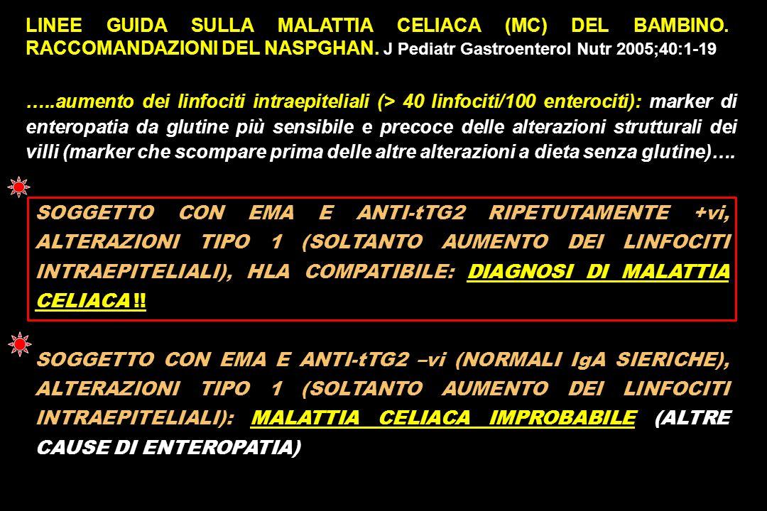 LINEE GUIDA SULLA MALATTIA CELIACA (MC) DEL BAMBINO.