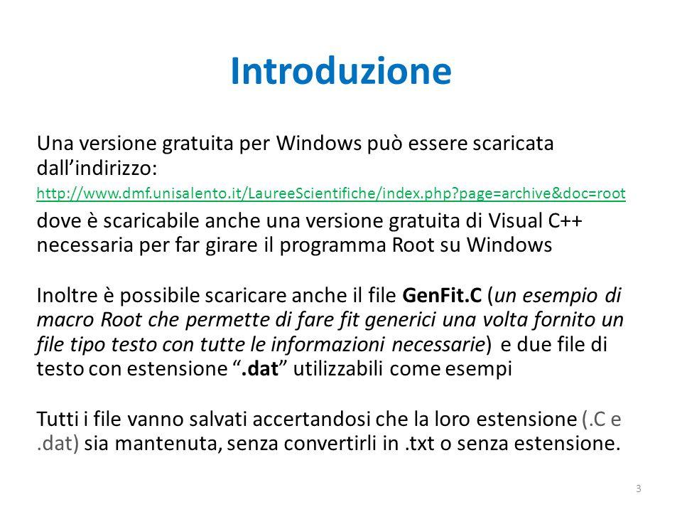 Introduzione Una versione gratuita per Windows può essere scaricata dallindirizzo: http://www.dmf.unisalento.it/LaureeScientifiche/index.php?page=arch