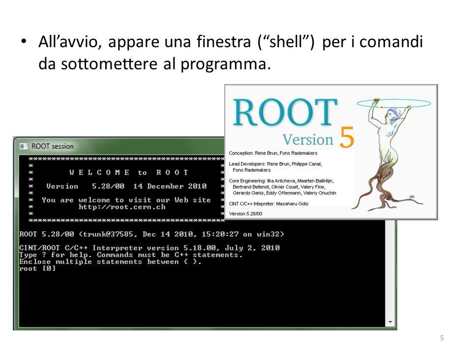 Allavvio, appare una finestra (shell) per i comandi da sottomettere al programma. 5