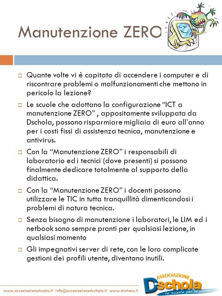 www.associazionedscola.it info@associazionedschola.it www.dschola.it Manutenzione ZERO Quante volte vi è capitato di accendere i computer e di riscont