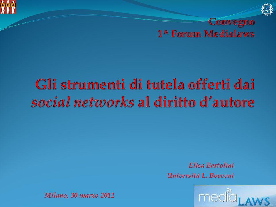 Elisa Bertolini Università L. Bocconi Milano, 30 marzo 2012