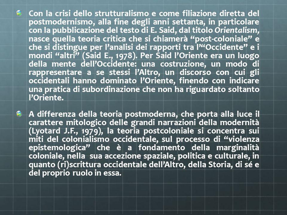 Con la crisi dello strutturalismo e come filiazione diretta del postmodernismo, alla fine degli anni settanta, in particolare con la pubblicazione del