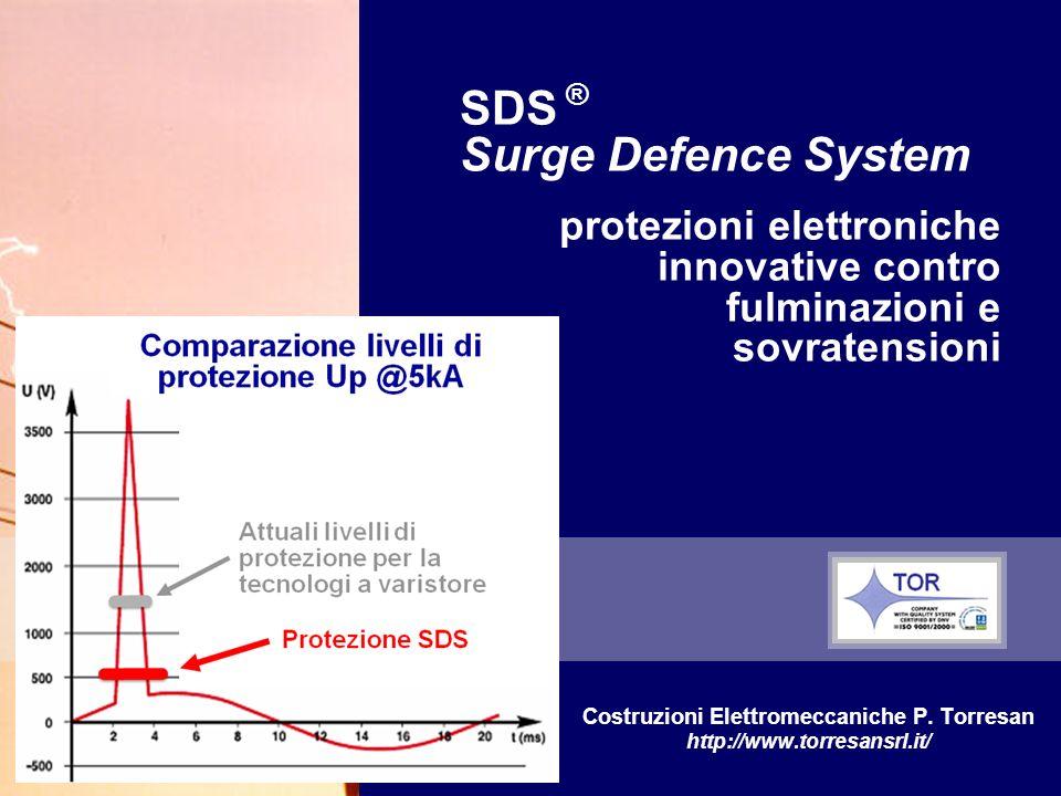 SDS ® Surge Defence System protezioni elettroniche innovative contro fulminazioni e sovratensioni Costruzioni Elettromeccaniche P.