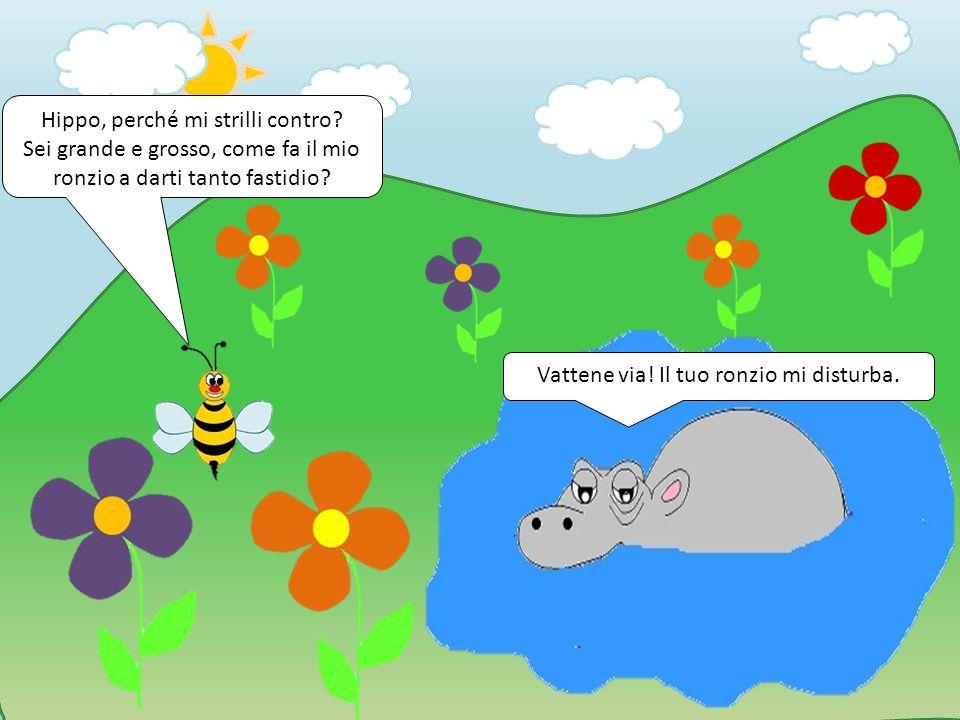 Non sai che le api sono utili.Raccogliamo il polline e aiutiamo i fiori a crescere.