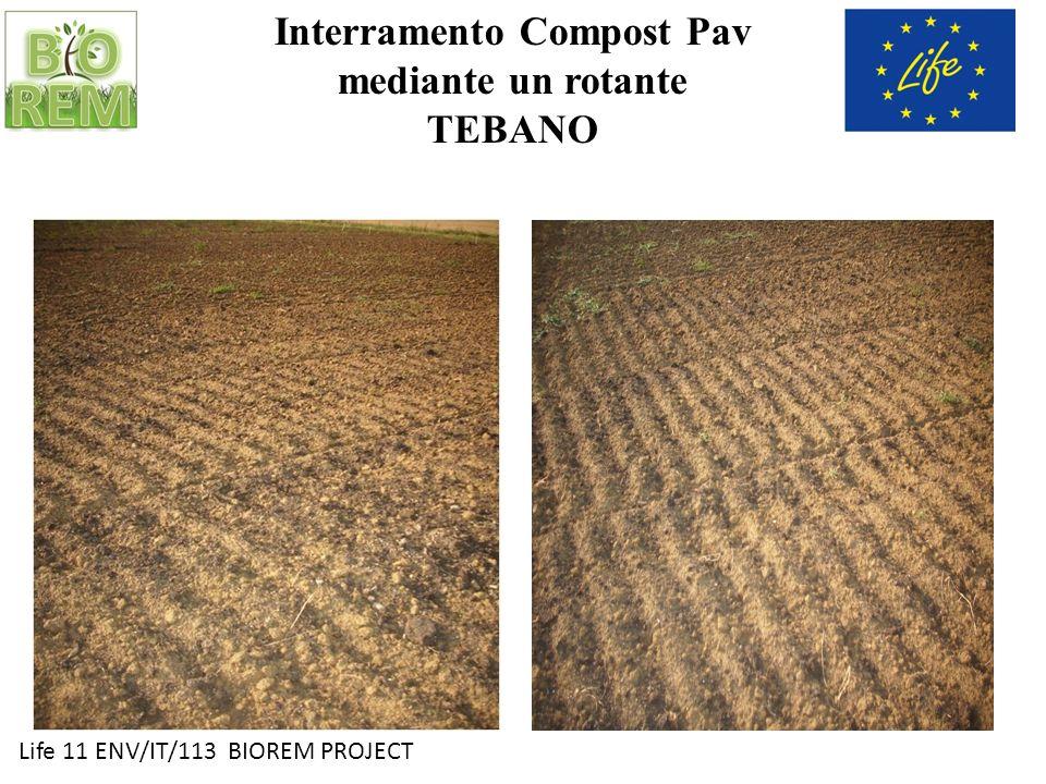 Life 11 ENV/IT/113 BIOREM PROJECT Interramento Compost Pav mediante un rotante TEBANO
