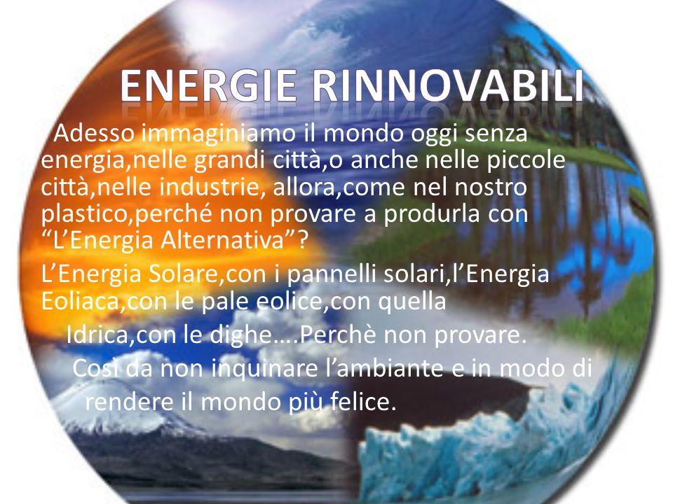 Adesso immaginiamo il mondo oggi senza energia,nelle grandi città,o anche nelle piccole città,nelle industrie, allora,come nel nostro plastico,perché