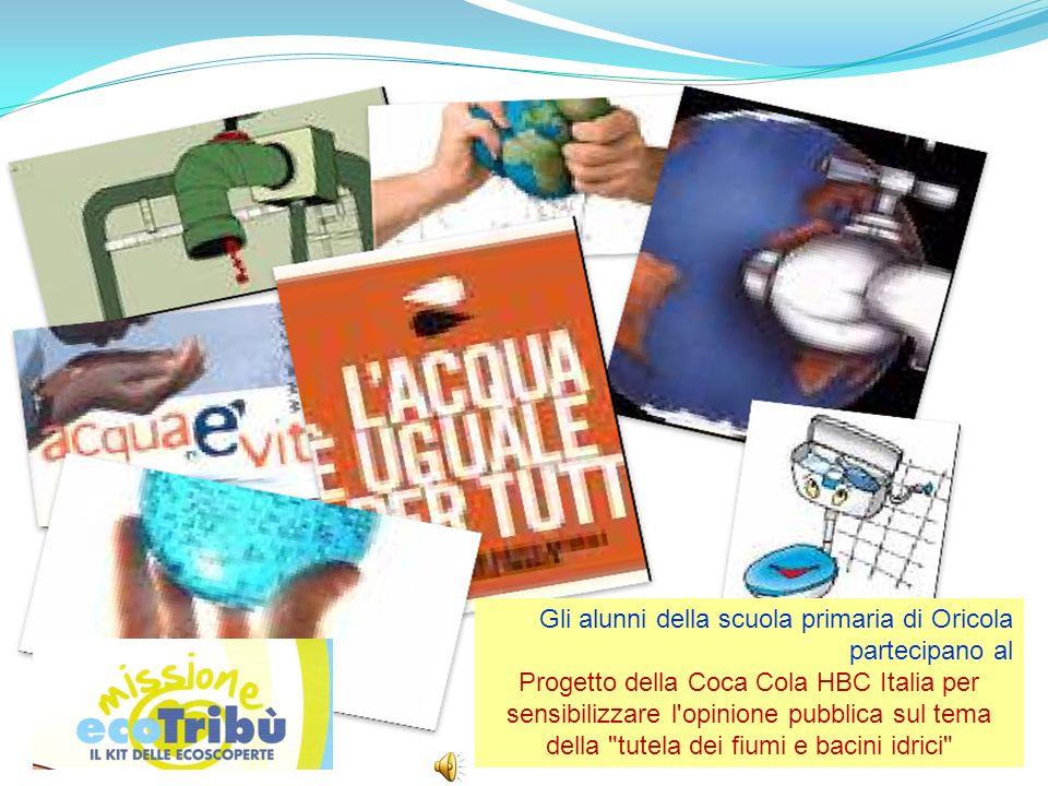 Gli alunni della scuola primaria di Oricola partecipano al Progetto della Coca Cola HBC Italia per sensibilizzare l'opinione pubblica sul tema della