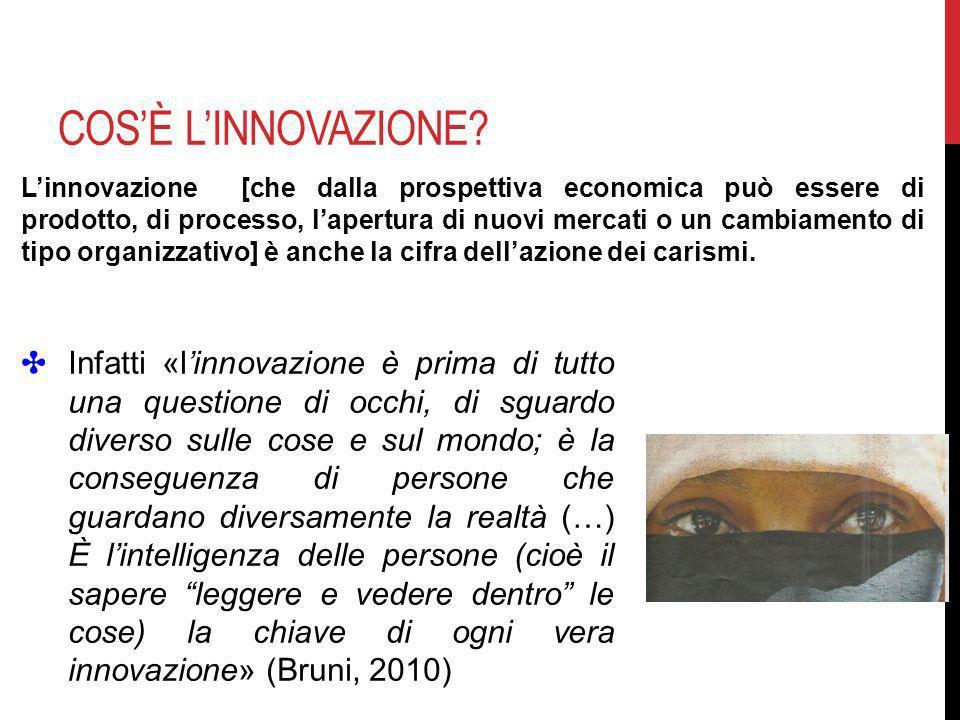 COSÈ LINNOVAZIONE? Linnovazione [che dalla prospettiva economica può essere di prodotto, di processo, lapertura di nuovi mercati o un cambiamento di t