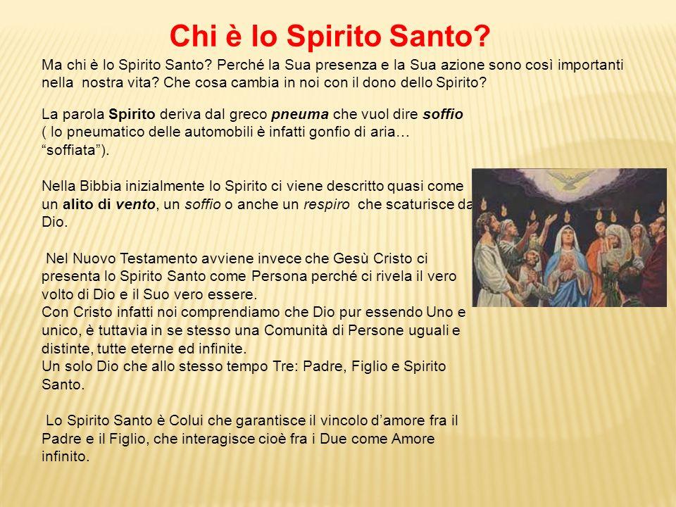 La parola Spirito deriva dal greco pneuma che vuol dire soffio ( lo pneumatico delle automobili è infatti gonfio di aria… soffiata). Nella Bibbia iniz