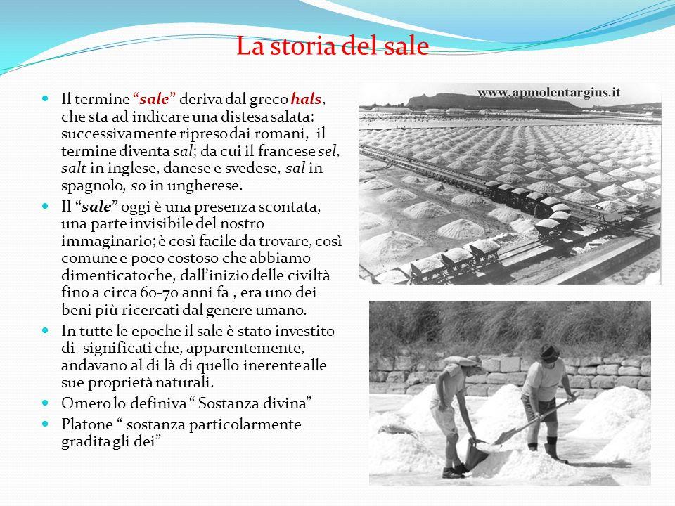La storia del sale Il termine sale deriva dal greco hals, che sta ad indicare una distesa salata: successivamente ripreso dai romani, il termine diven
