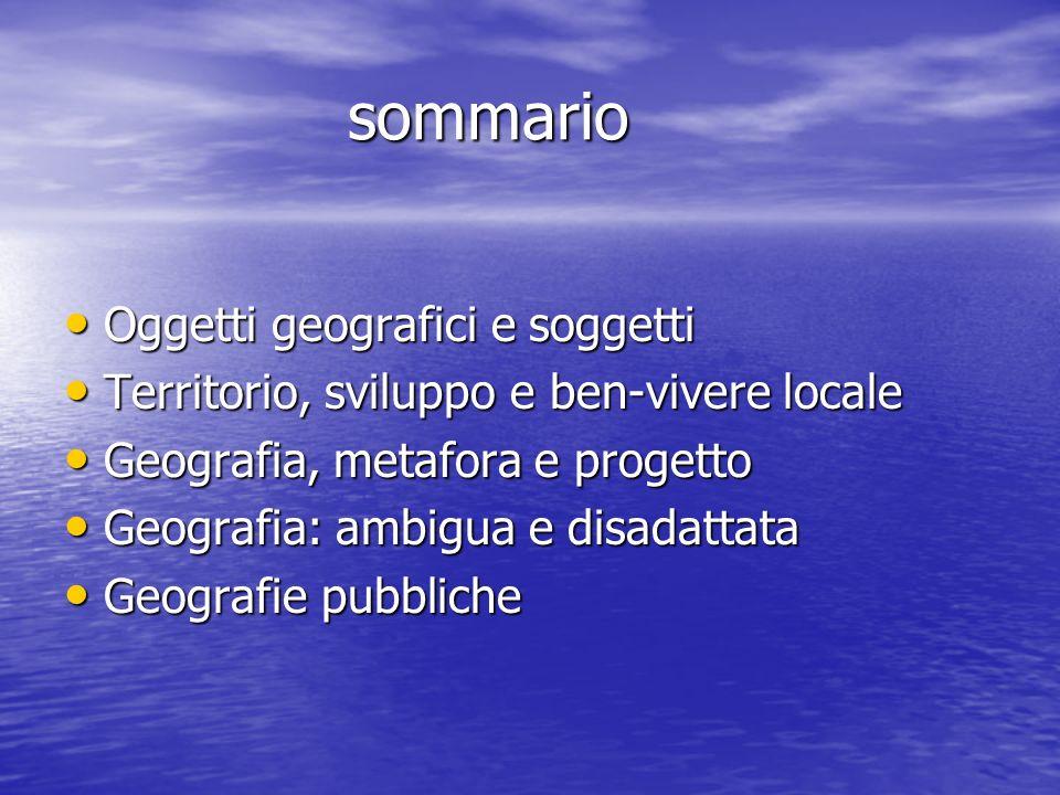 Bibliografia Bibliografia DEMATTEIS G., Le metafore della Terra.