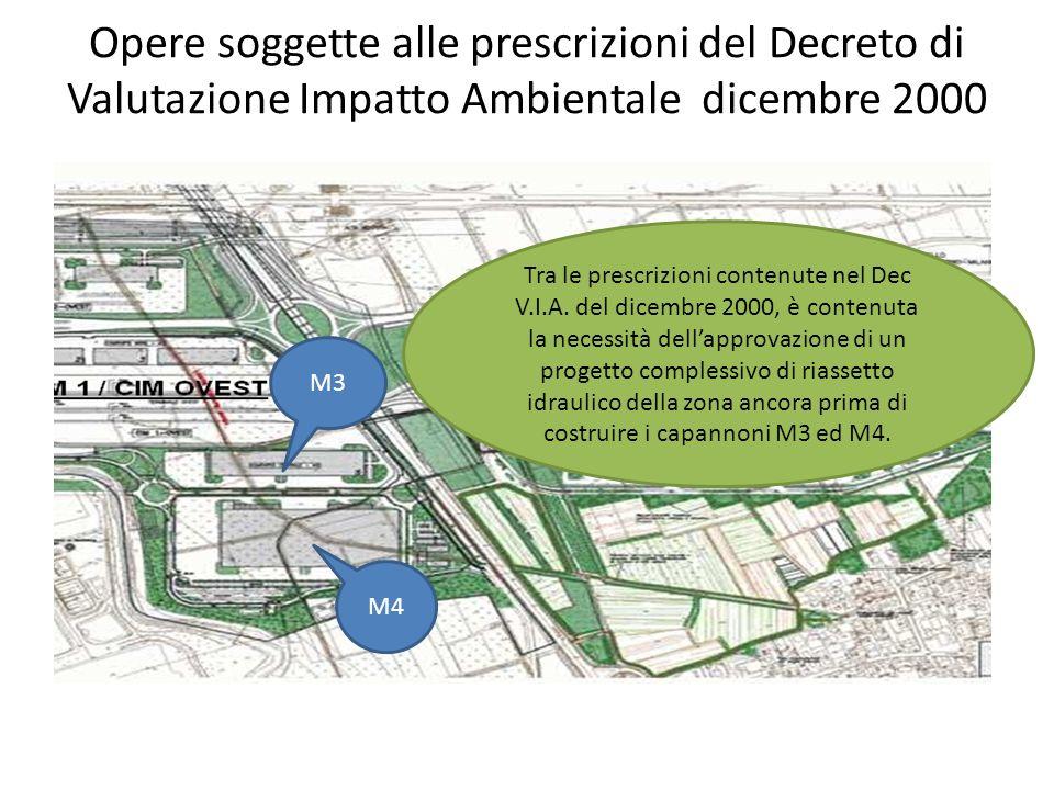 Opere soggette alle prescrizioni del Decreto di Valutazione Impatto Ambientale dicembre 2000 M3 M4 Tra le prescrizioni contenute nel Dec V.I.A.