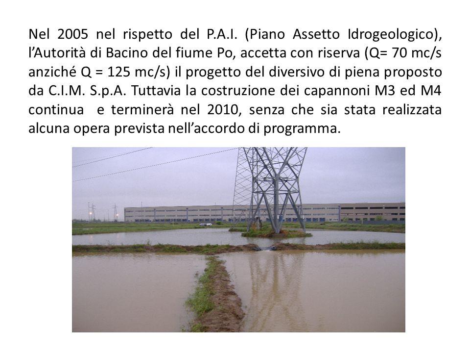 Nel 2005 nel rispetto del P.A.I.