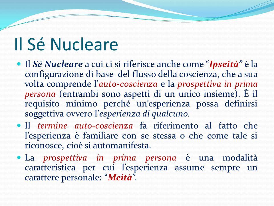 Il Sé Nucleare Il Sé Nucleare a cui ci si riferisce anche come Ipseità è la configurazione di base del flusso della coscienza, che a sua volta compren